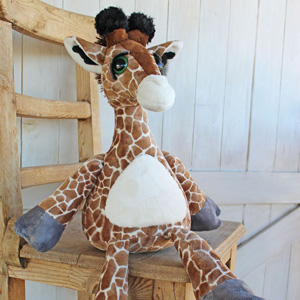 Spotted long neck plushie