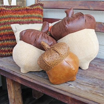 oak nut bench pillow